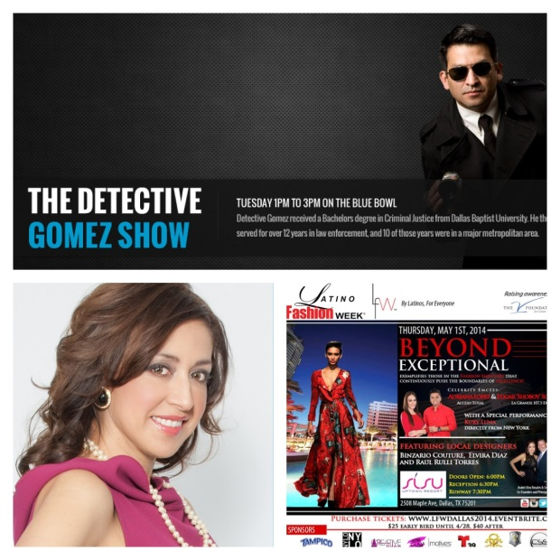 Latino Fashion Week's very own Arabel Rosales to appear on the Detective Gomez Radio Show 4/29/14