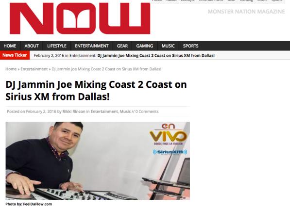 DJ Jammin Joe in Monster Nation Now