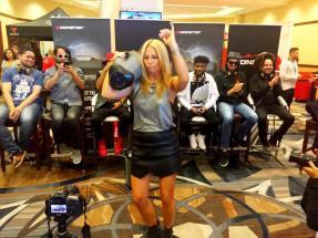 Pili Montilla, Hostess of Te Para Tres/MEGA TV Dancing with her Monster Boombox
