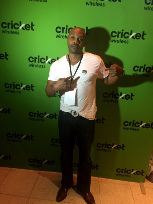 Valenti Funk of The Effinays at Cricket Mobile #Cricketeo Party