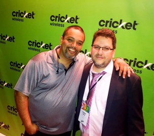 Multi-Platinum Mega Producer Rated R with Hispanicize CEO/Founder Manny Ruiz at Cricket Mobile VIP event